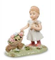 Cms-12/30 статуэтка девочка с цветами (pavone)