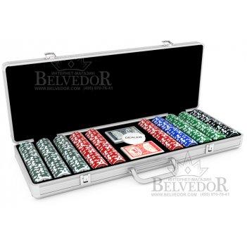 Покерный набор голографический ultimate 500 фишек 12 гр.