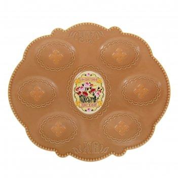 Пасхальная подставка для 6 яиц розы
