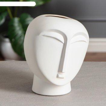 Ваза настольная будда, цвет белый, 21.5 см