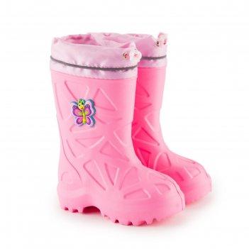 Сапоги детские эва, цвет розовый, размер 25-26