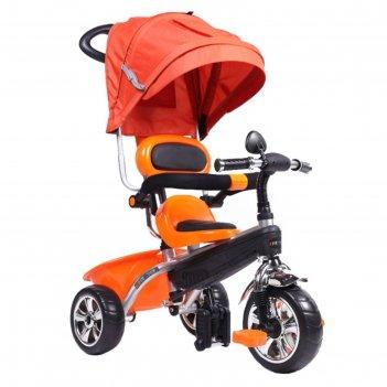 Велосипед трёхколесный pitstop 2018, колеса 10/8, цвет оранжевый