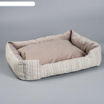 Лежанка-диван с двусторонней подушкой   53 х 42 х 11 см микс цветов