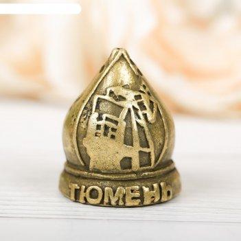 Наперсток сувенирный «тюмень» латунь, 2,6 х 3,4 см