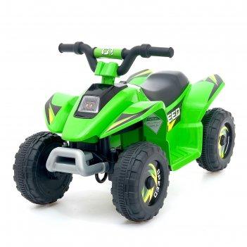 Электромобиль квадроцикл, цвет зеленый