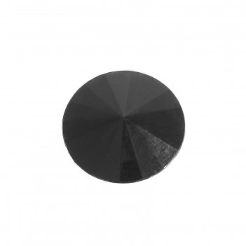 Пуговица декоративная на ножке конус, 20 мм, цвет чёрный