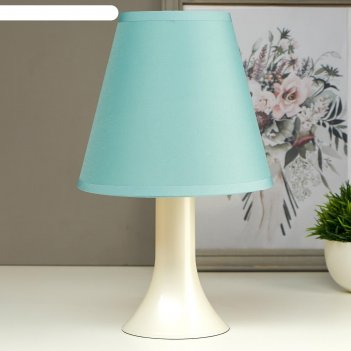 Лампа настольная 032004 1хе14 15вт светло-бирюзовый d=18 см, h=28,5 см
