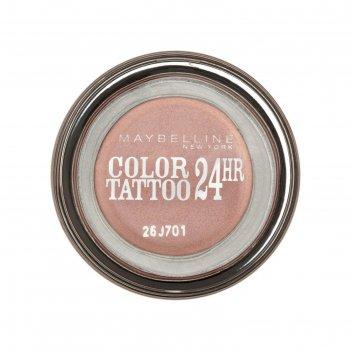 Тени для век maybelline color tattoo 24 часа, оттенок 65, розовое золото,