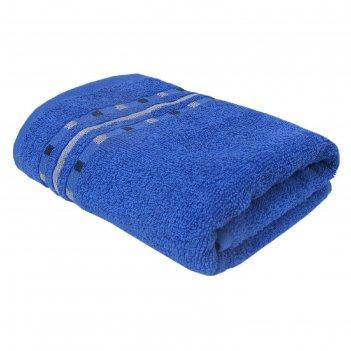 Полотенце «чекерс», размер 33 x 70 см, синий, махра