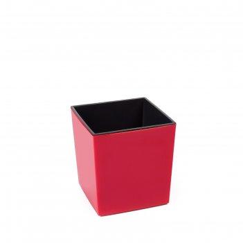 Пластиковый горшок с вкладкой «юкка», цвет красный