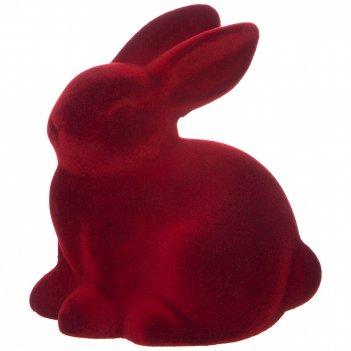 Фигуркакролик велюр цвет:красный 11,5*8*12 см