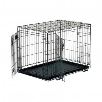 Клетка midwest life stage, 2 двери, 107 х 71 х 79 см, черная