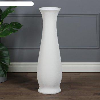 Ваза напольная глория кожа, белая , керамика, 70 см