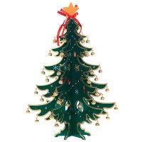 Елка новогодняя с украшениями, h 35 см