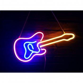 Неоновая вывеска гитара, 60.8 х 26.4 см