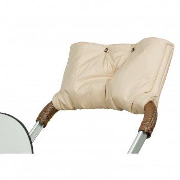 Муфта для рук на коляску флисовая (на липучке), цвет бежевый мкф01-001
