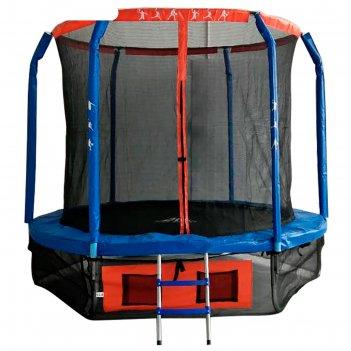 Батут dfc jump basket 8ft внутр.сетка, лестница (244cм)
