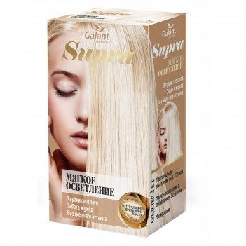 Мягкое осветление supra с натуральным маслом, экстрактом белого льна, вита