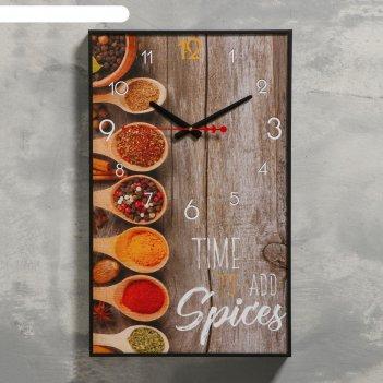 Часы настенные, серия: кухня, пряности, 1 аа, плавный ход, 37х60 см