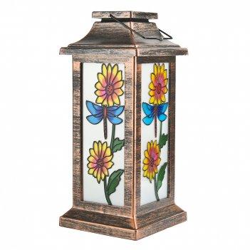 Светильник садовый (подвесной с соларом) фонарь 11*11*26см. (2