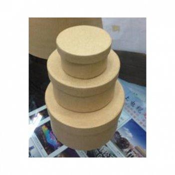 Набор из 3-х круглых коробочек мал, картон,9х9х5/7.5х7.5х4/5х5х3 см