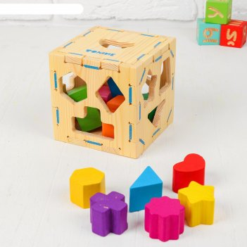Сортер геометрические фигуры, 14 элементов