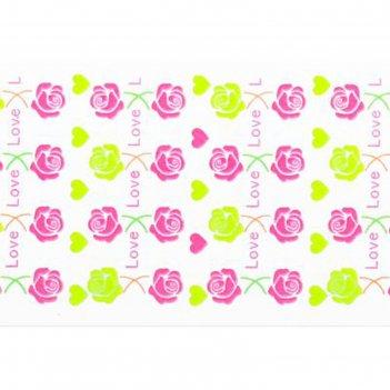 Слайдер-дизайн для ногтей розы, неоновый, цвета микс