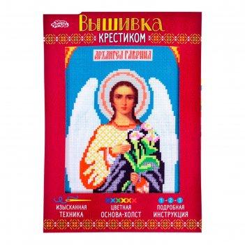 Набор для вышивания крестиком святой архангел гавриил размер основы 21,5*2