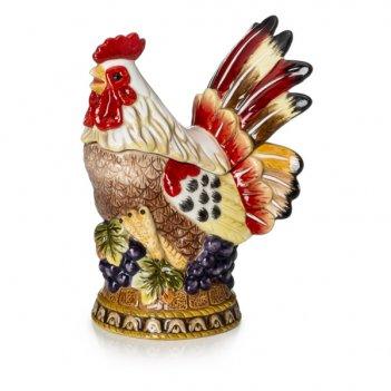 Шкатулка lamart palais royal петушок 15см, керамика