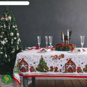 Скатерть этель новогодняя сказка, размер 150х110 см