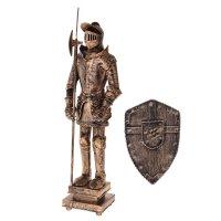 Сувенирное изделие рыцарь в доспехах с пикой и щитом