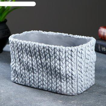 Фигурное кашпо плетеное 19,5х14х10,5см
