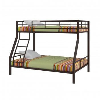 Двухъярусная кровать гранада 1, 1980х1260х1620 мм, коричневый