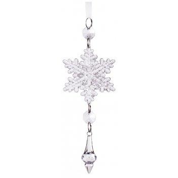 Изделие декоративное снежинка длина=17 см (мал=24шт./кор=144шт.)
