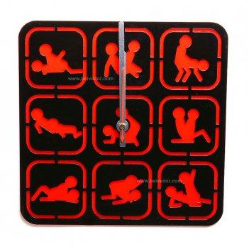Часы камасутра квадратные арт. cl172,  размер 26х26см