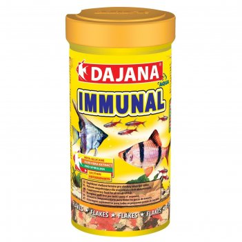 Корм dajana pet immunal flakes для всех видов декоративных рыб, хлопья, 25