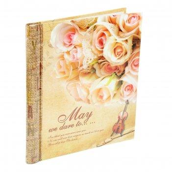 Фотоальбом магнитный 20 листов букет роз микс 31,5х28х2,3 см
