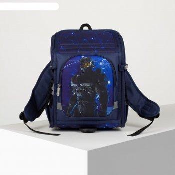 Рюкзак школьн 2077, 24*17*34, отд на молнии, н/карман, 2 бок кармана, робо