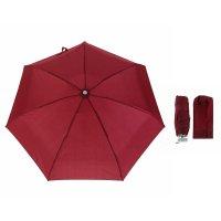 Зонт механический «мини», 4 сложения, 7 спиц, r = 46 см, цвет бордовый