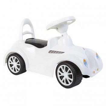 Ор900 каталка машинка ретро с клаксоном белая