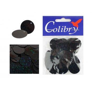 Пайетки фигурные голографические colibry 20мм