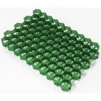 Решетка газонная 55 х 32,5 х3,2 см, зеленый