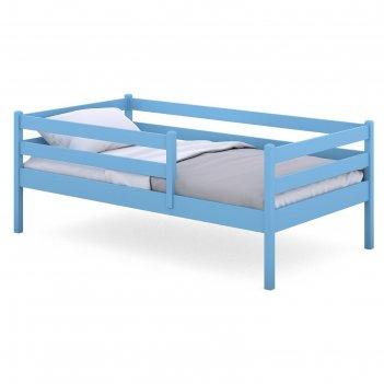 Кроватка viki, спальное место 140х80 см, цвет голубой