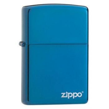 Зажигалка zippo classic, латунь с покрытием sapphire™, синий, глянцевая, 3
