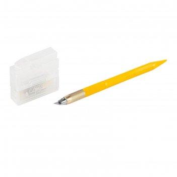 Набор olfa ol-ak-5, нож перовой, для точных работ, рукоять с мини шпателем