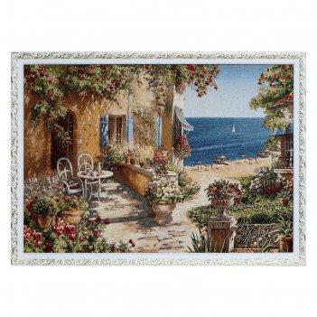 Гобеленовая картина ривьера утренний чай 109х78 см