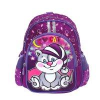Рюкзак детский на молнии, 1 отдел, 3 наружных кармана, фиолетовый