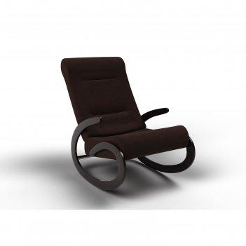 Кресло-качалка «мальта», 1112 x 600 x 890 мм, ткань, цвет шоколад