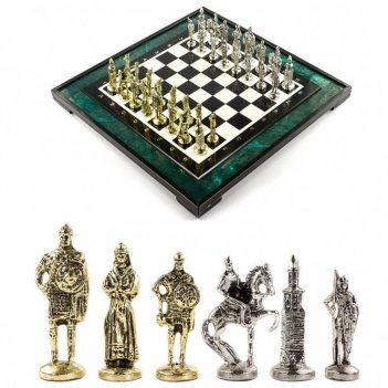 Эксклюзивные шахматы русь доска 47х47 см змеевик