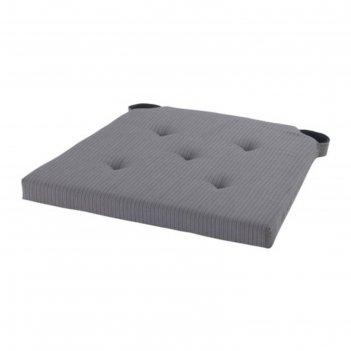 Подушка на стул юстина, размер 40х42 см, цвет серый